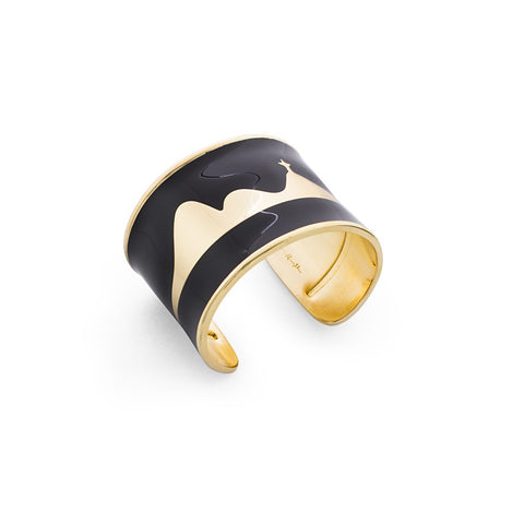 RIO DE JANEIRO ENAMEL CUFF - BLACK - Stylemindchic Boutique - Curated Collections - 1