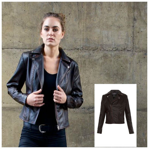Diane Faux Leather Moto - Stylemindchic Boutique - Curated Collections - 1