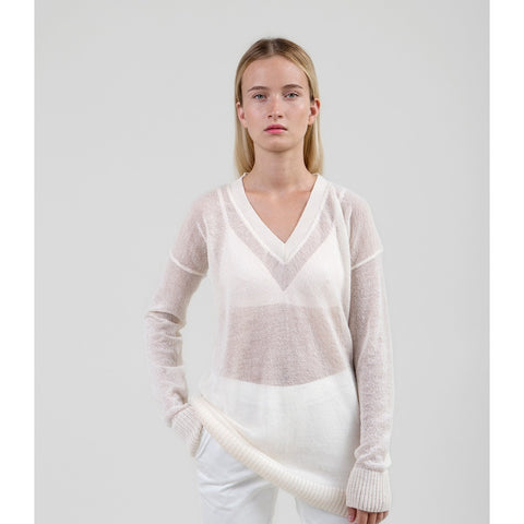 Airy Mohair Sweater - Off-White