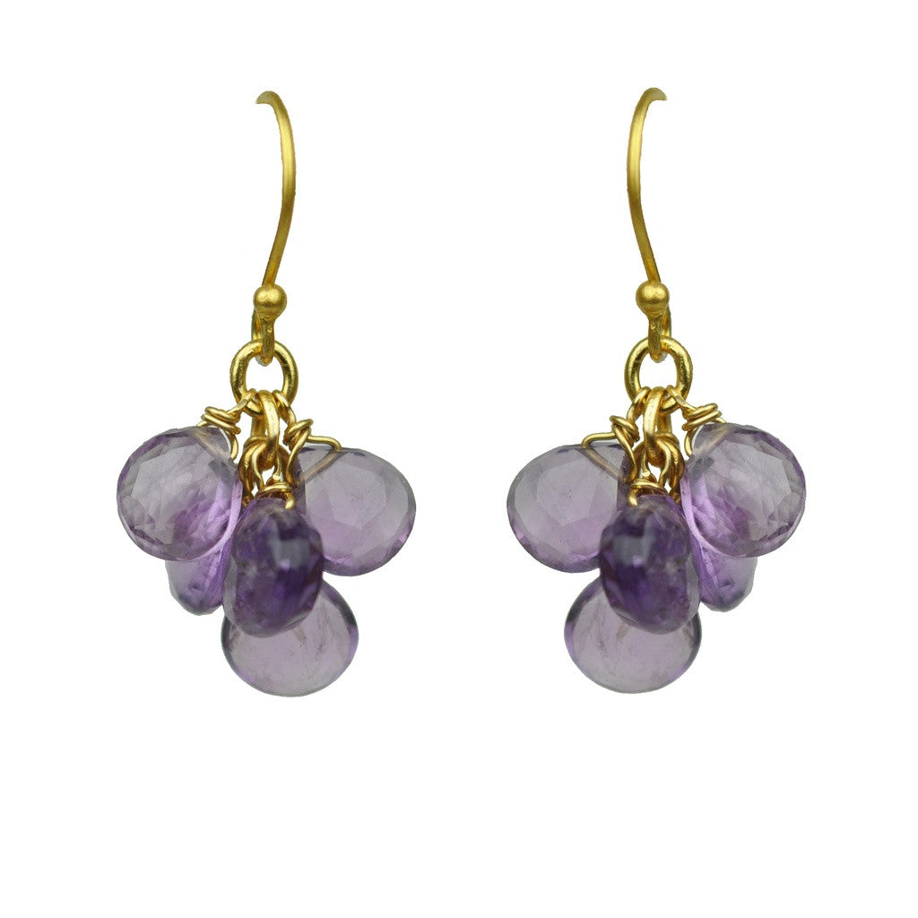 Amethyst Cluster Earrings - Stylemindchic Boutique - Curated Collections - 1