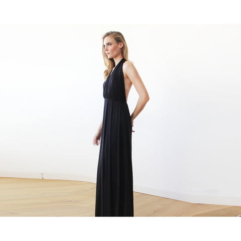Black halter neck maxi dress - Stylemindchic Boutique - Curated Collections - 1