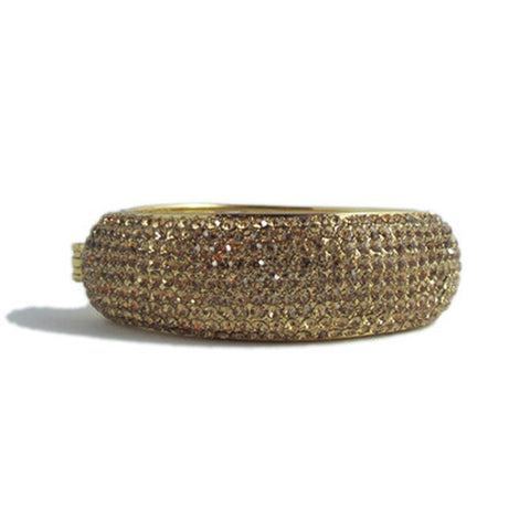 Izoa 9 Row Crystal Bangle With Clasp in Gold - Australia