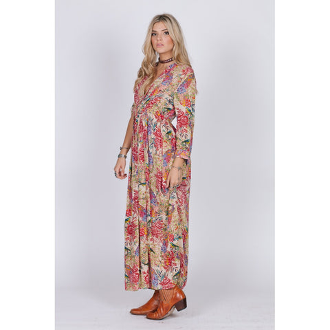 BIRDS OF PARADISE BUTTON DOWN MAXI - Stylemindchic Boutique - Curated Collections - 2