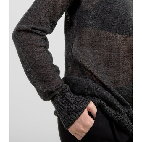 Airy Mohair Sweater - Charcoal