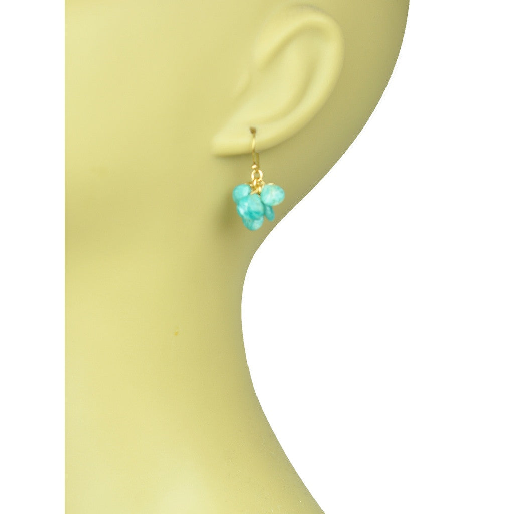 Amazonite Cluster Earrings - Stylemindchic Boutique - Curated Collections - 3