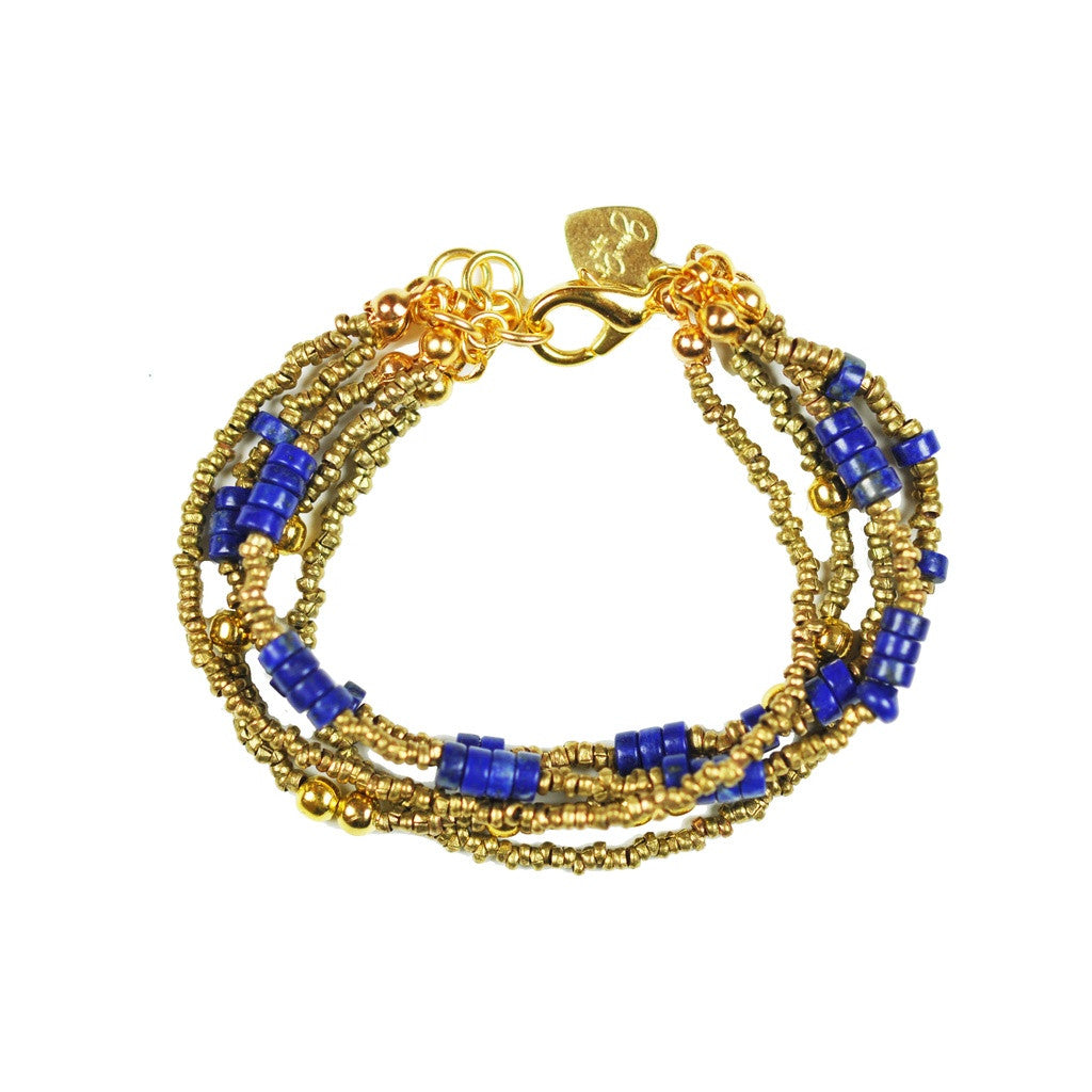 Multi Strand Lapis Lazuli Bracelet - Stylemindchic Boutique - Curated Collections - 1