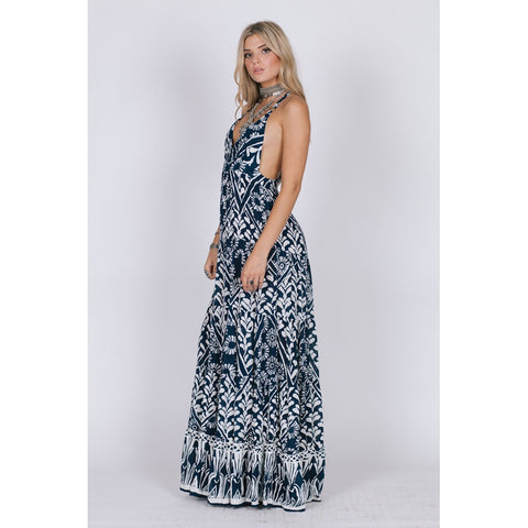 TROPIC BLUES RAZOR BACK MAXI - Stylemindchic Boutique - Curated Collections - 2