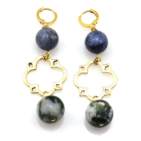Gold Pyrite Cluster Earrings