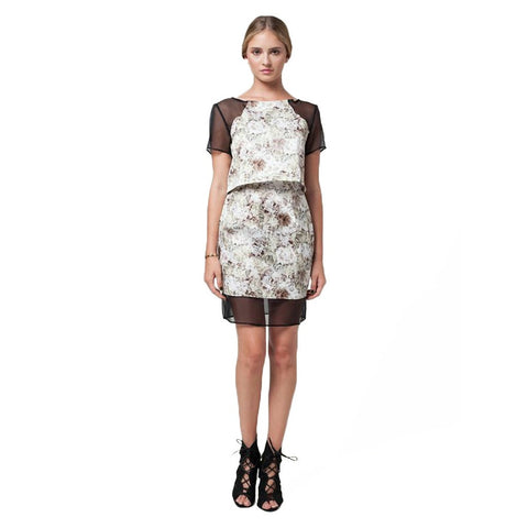 KOLAB FLORAL/ORGANZA SKIRT - Stylemindchic Boutique - Curated Collections - 1