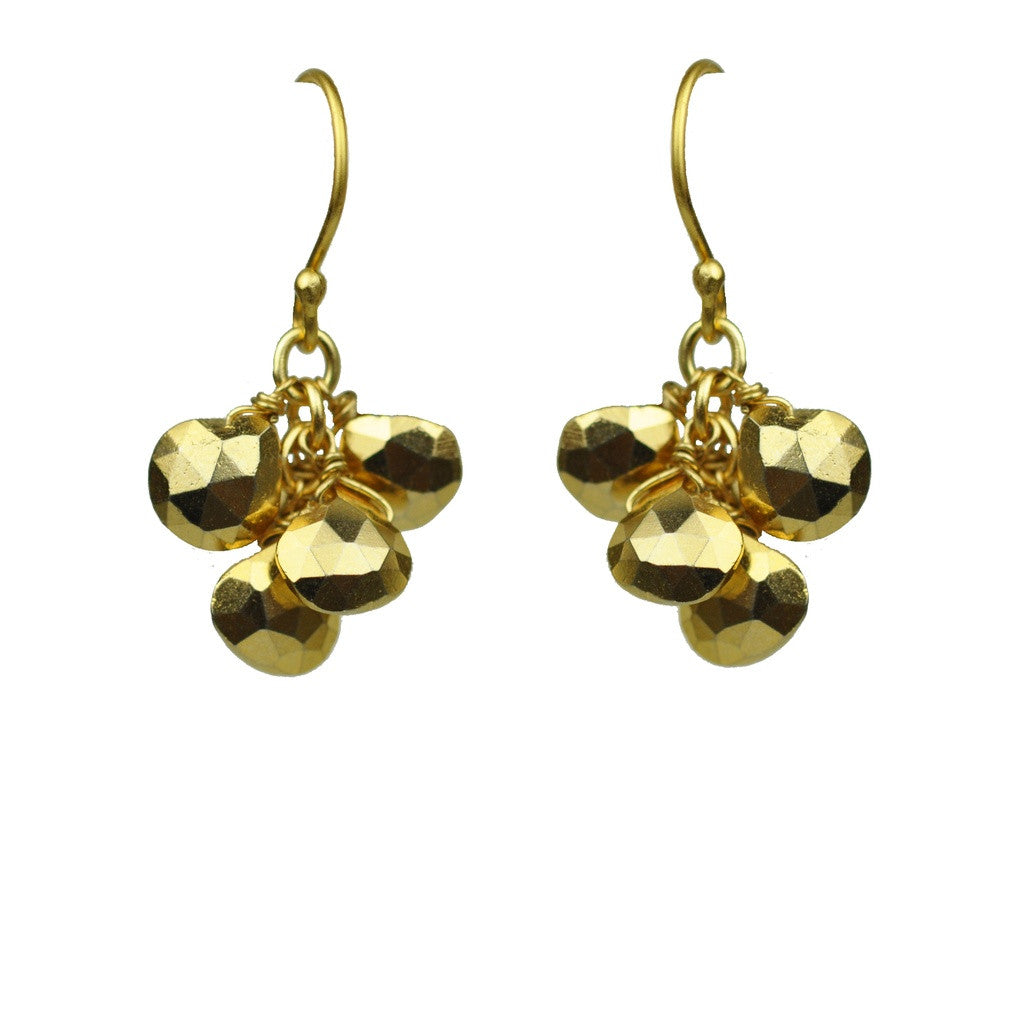 Gold Pyrite Cluster Earrings - Stylemindchic Boutique - Curated Collections - 1