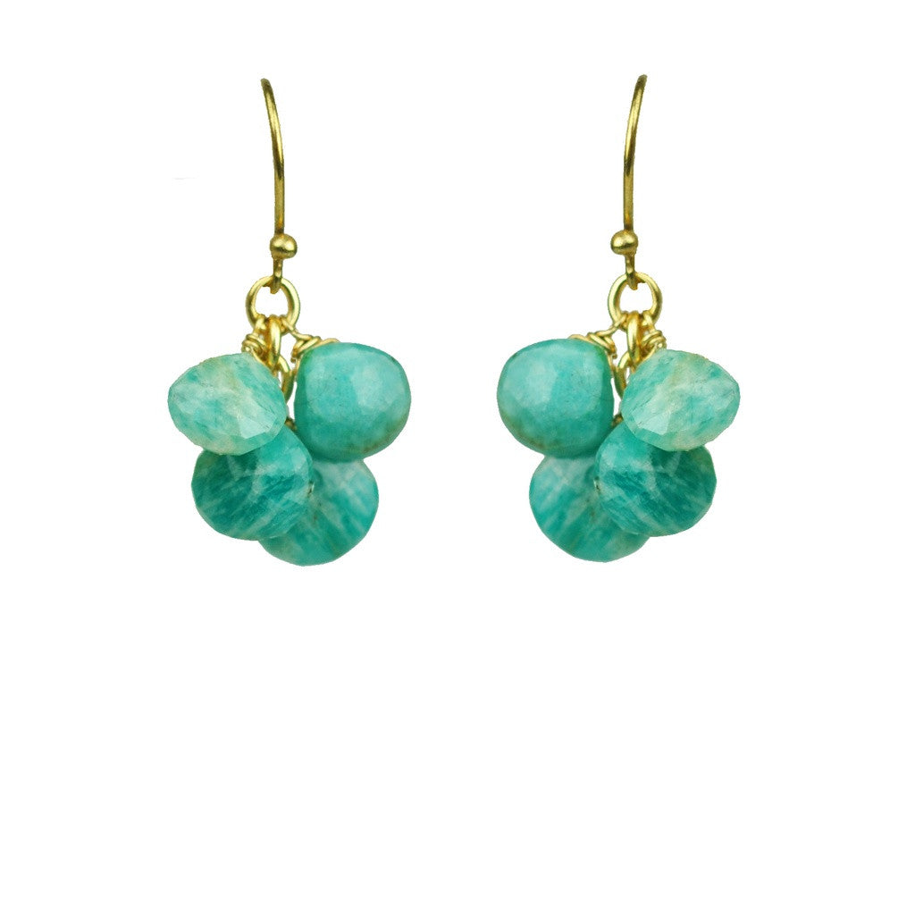 Amazonite Cluster Earrings - Stylemindchic Boutique - Curated Collections - 1