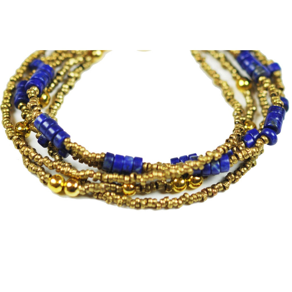 Multi Strand Lapis Lazuli Bracelet - Stylemindchic Boutique - Curated Collections - 2