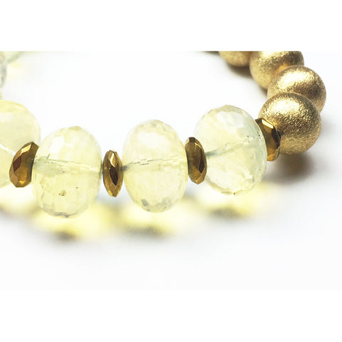 Pineapple Quartz Gold Stretch Bracelet - Stylemindchic Boutique - Curated Collections - 2
