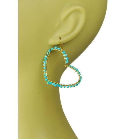 Turquoise Heart Earrings - Stylemindchic Boutique - Curated Collections - 2