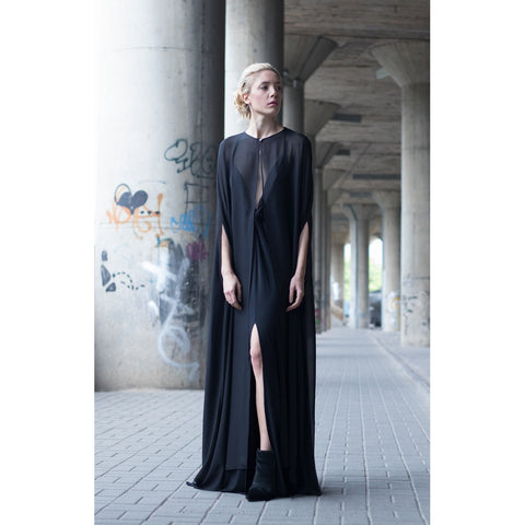Black cape dress - Stylemindchic Boutique - Curated Collections - 2