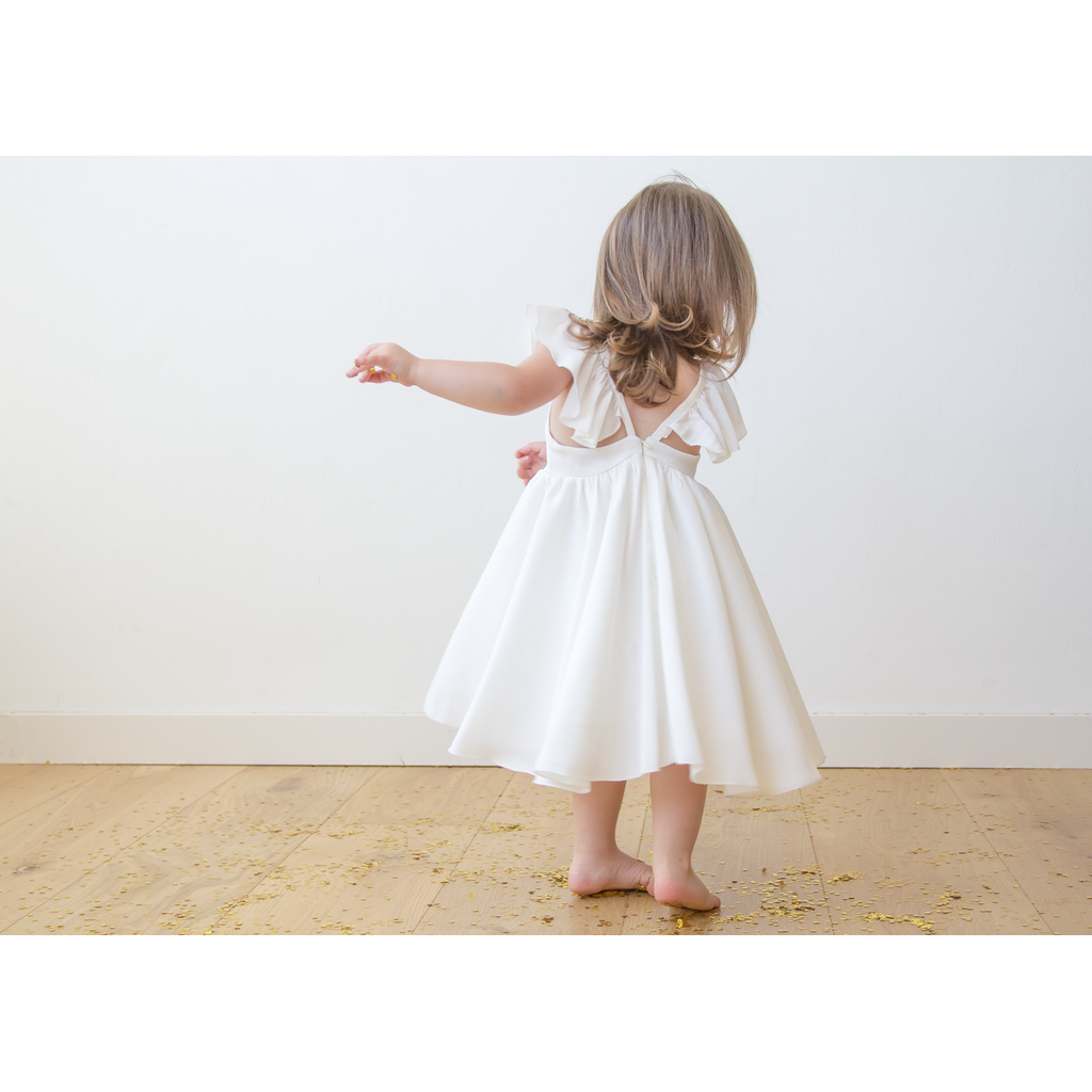 Ivory girls butterfly dress