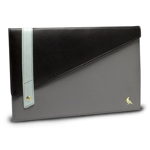 Black Grey Leather Portfolio Large - Sparrow  WAS $128 - now 50% off retail