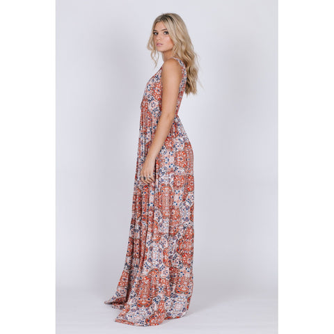 SUNSET GOLD SLEEVELESS MAXI - Stylemindchic Boutique - Curated Collections - 2