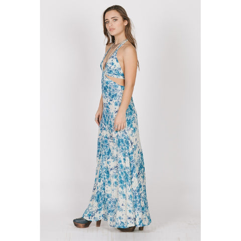 BLUE ROSE CUTOUT MAXI - Stylemindchic Boutique - Curated Collections - 2