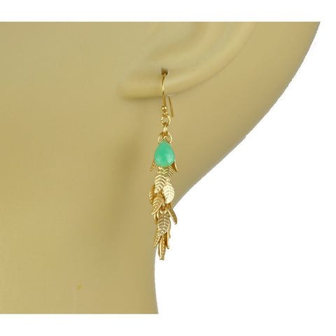 Leaf Cascade Cluster Chrysophrase Earrings - Stylemindchic Boutique - Curated Collections - 2