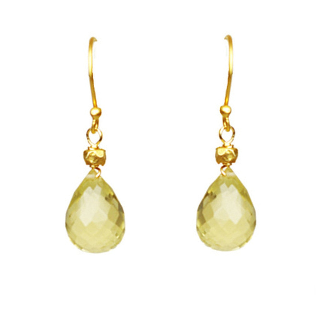 Lemon Citrine Drop Earrings - Stylemindchic Boutique - Curated Collections - 1