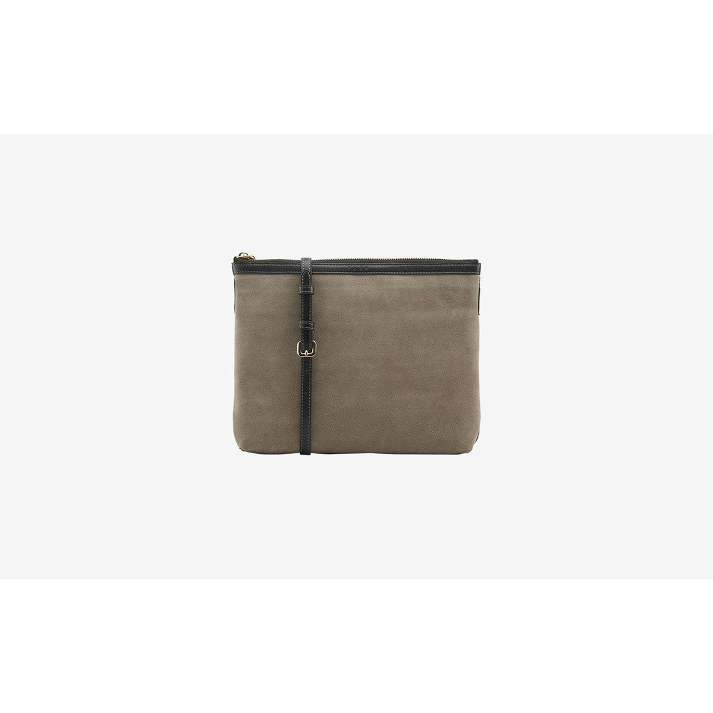 Suede Top Zip Cross Body Bag