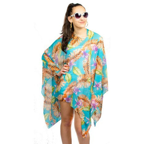 Womens Palm Trees Summer Poncho Cover Up - Stylemindchic Boutique - Curated Collections - 6