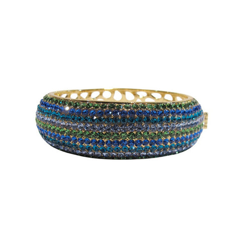 Izoa Crystal Bangle - Blue and Green - Australia