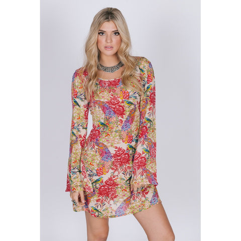 BIRDS OF PARADISE TUNIC DRESS - Stylemindchic Boutique - Curated Collections - 2