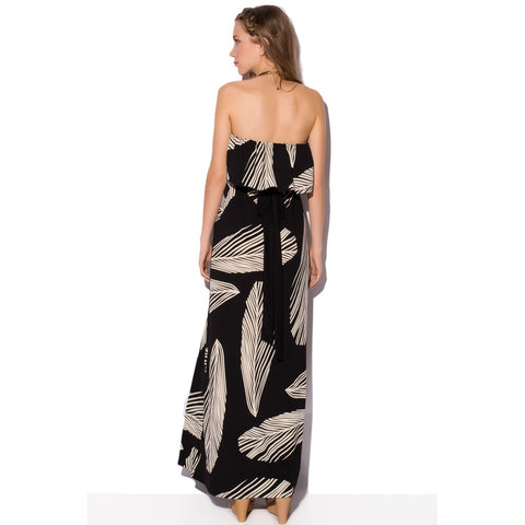 Bandeau Maxi Dress In Print