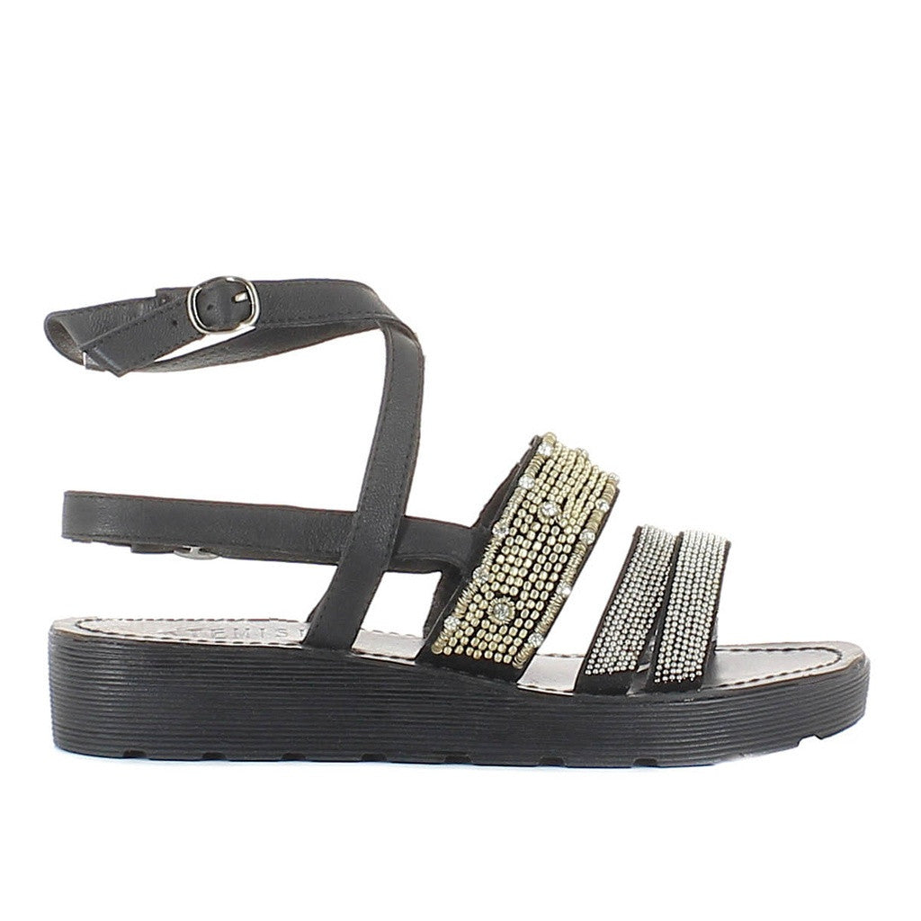 Arianna Black Sandal - Stylemindchic Boutique - Curated Collections - 2