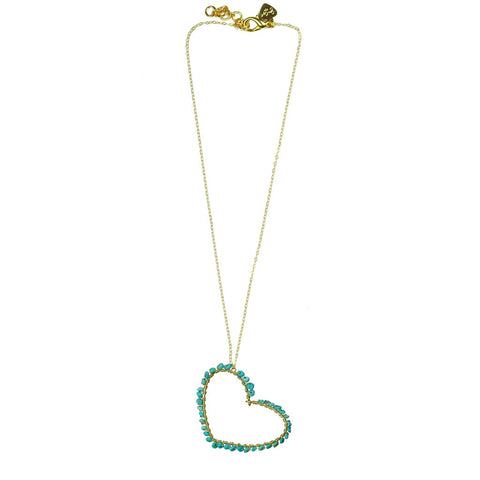 Turquoise Heart Necklace - Stylemindchic Boutique - Curated Collections