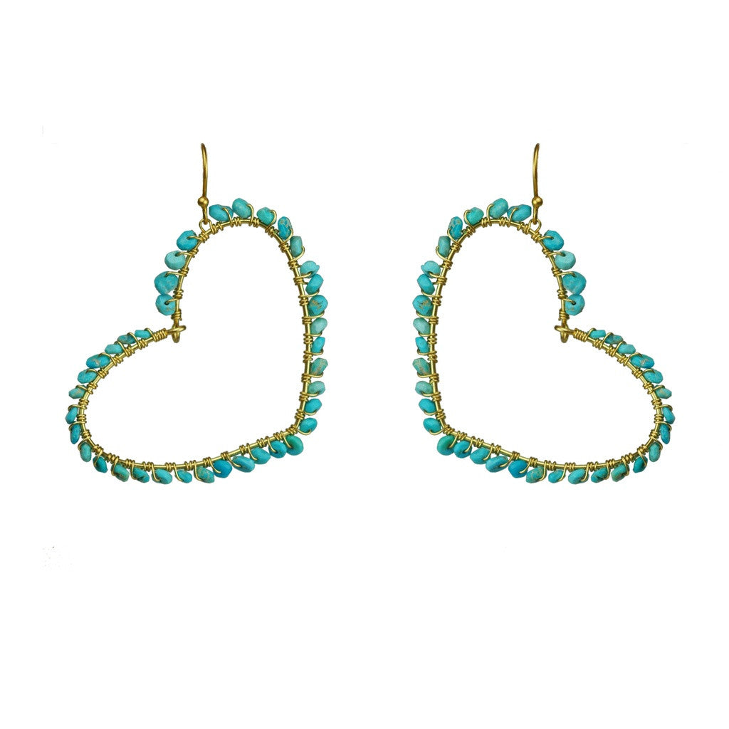 Turquoise Heart Earrings - Stylemindchic Boutique - Curated Collections - 1