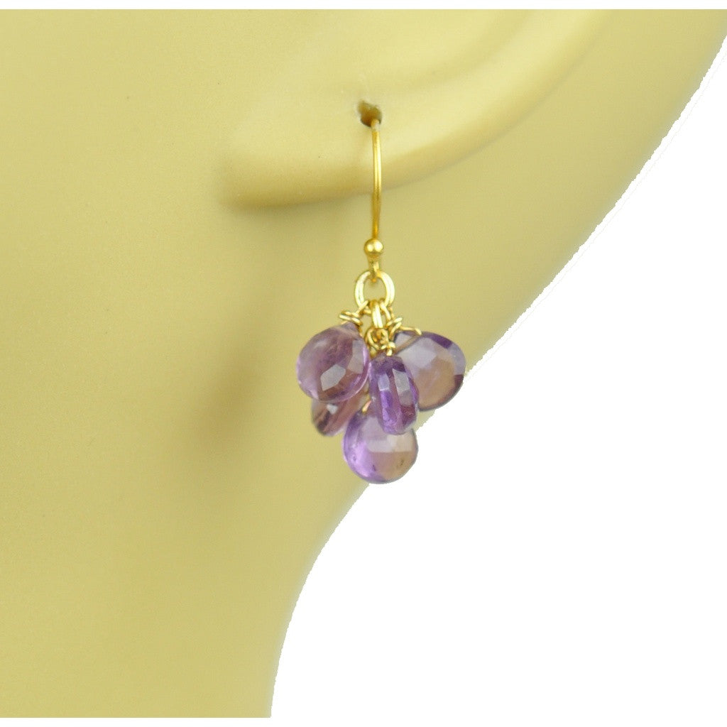 Amethyst Cluster Earrings - Stylemindchic Boutique - Curated Collections - 2