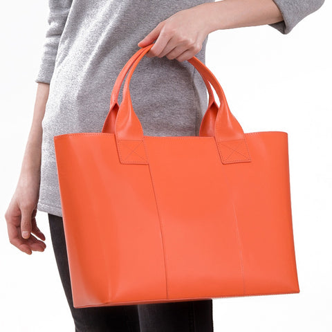 Shopping Bag Tangerine Orange - Stylemindchic Boutique - Curated Collections - 1