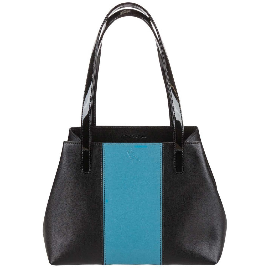 Black/Blue Saffiano Leather Handbag - Lorikeet - Stylemindchic Boutique - Curated Collections - 1