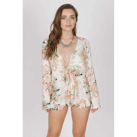 GARDEN PARTY TIE ROMPER - Stylemindchic Boutique - Curated Collections - 1