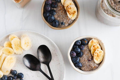 Vegan Blueberry Banana Chia Seed Pudding