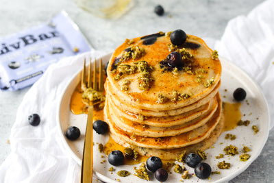 Easy Gluten Free Blueberry Pancakes