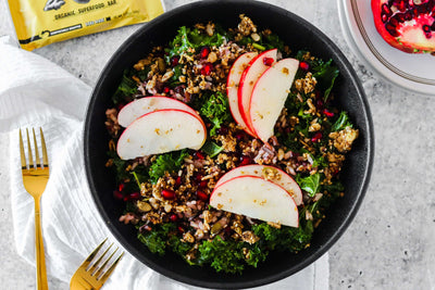 Vegetarian Kale & Apple Salad with Honey Dijon Dressing