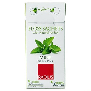 Radius Organic USDA Dental Floss - Peppermint, 55 yd