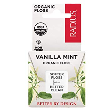 Radius Organic USDA Dental Floss - Vanilla Mint, 55 yd