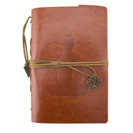 Journal Notebook - Leather, Yoga