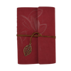 Journal Notebook - Faux Leather,  Leaf Design