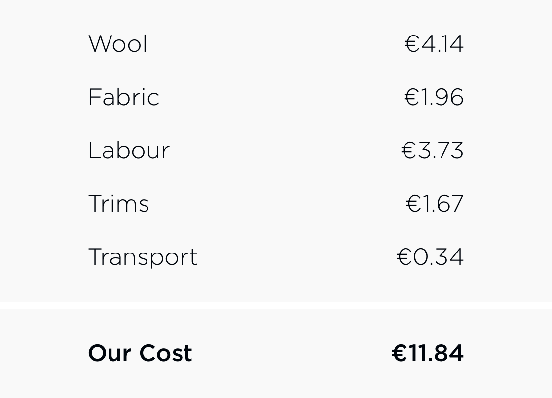 Woolday boxer briefs costs