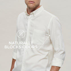 Woolday oxford shirts naturally block odors