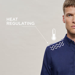 Woolday oxford shirts regulate heat