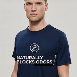 Woolday t-shirts naturally block odors