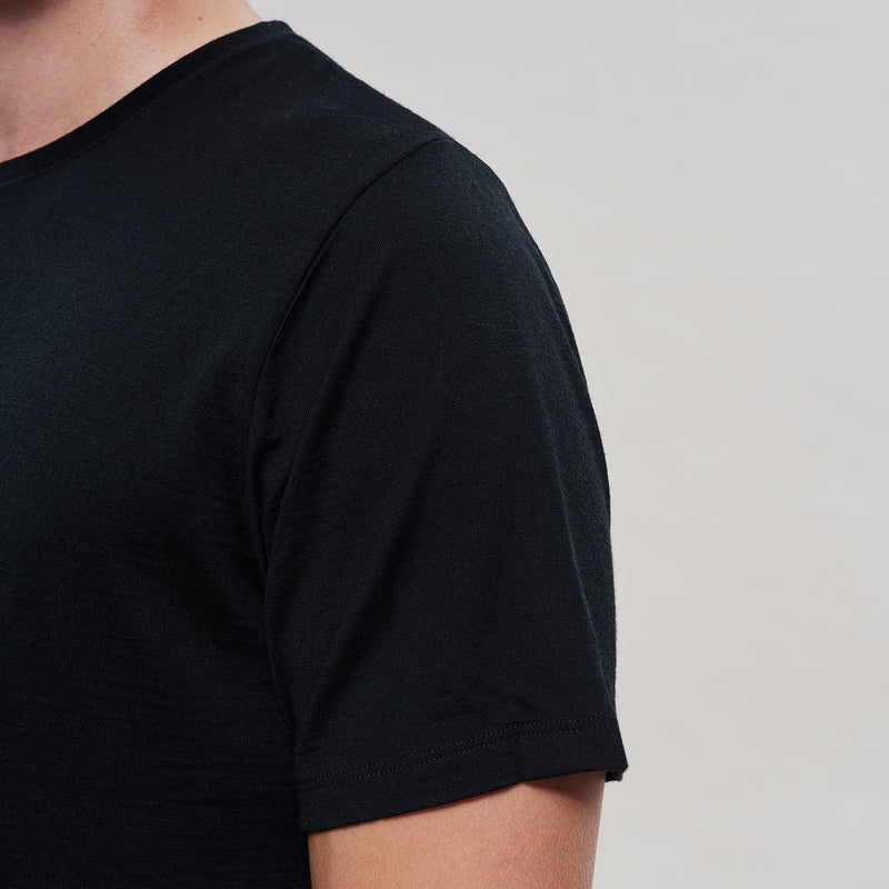The Merino Wool T-Shirt Black Woolday 4
