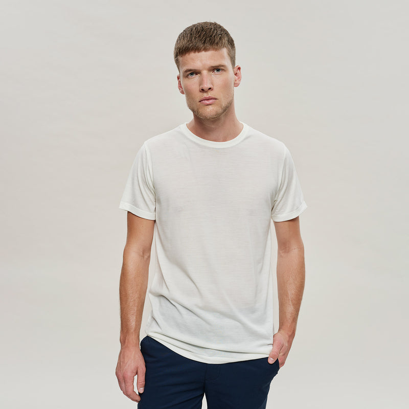 The Merino Wool T-Shirt Natural White Woolday 1